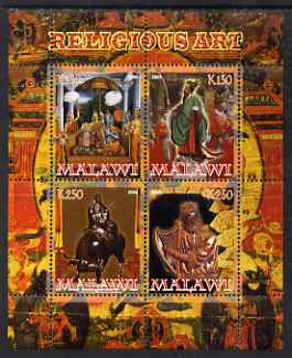 Malawi 2008 Religious Art perf sheetlet containing 4 values unmounted mint