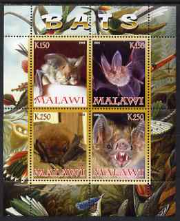 Malawi 2008 Bats perf sheetlet containing 4 values unmounted mint