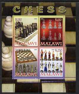 Malawi 2008 Chess perf sheetlet containing 4 values unmounted mint