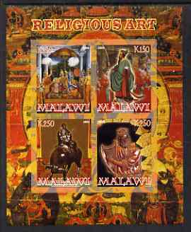 Malawi 2008 Religious Art imperf sheetlet containing 4 values unmounted mint