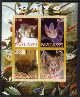Malawi 2008 Bats imperf sheetlet containing 4 values unmounted mint