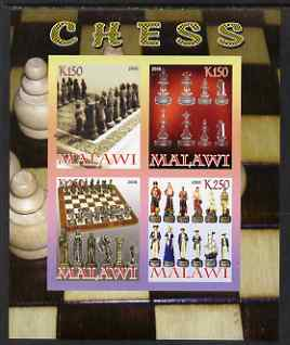 Malawi 2008 Chess imperf sheetlet containing 4 values unmounted mint