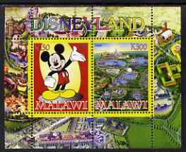 Malawi 2008 Disneyland perf sheetlet #2 containing 2 values unmounted mint