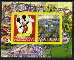 Malawi 2008 Disneyland imperf sheetlet #2 containing 2 values unmounted mint