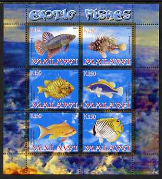 Malawi 2008 Exotic Fish perf sheetlet containing 6 values unmounted mint