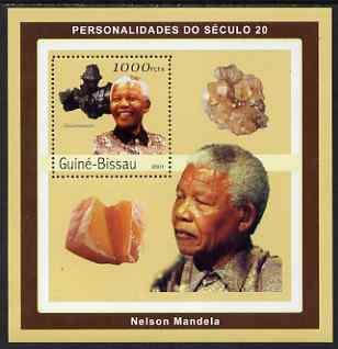 Guinea - Bissau 2001 Nelson Mandela & Minerals #1 perf s/sheet containing 1 value (Hausmannite) unmounted mint Mi 1980