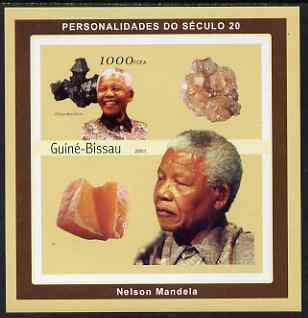 Guinea - Bissau 2001 Nelson Mandela & Minerals #1 imperf s/sheet containing 1 value (Hausmannite) unmounted mint Mi 1980
