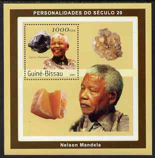 Guinea - Bissau 2001 Nelson Mandela & Minerals #2 perf s/sheet containing 1 value (Cuprite, Plancheite) unmounted mint Mi 1981