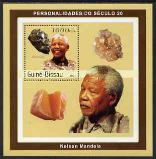 Guinea - Bissau 2001 Nelson Mandela & Minerals #3 perf s/sheet containing 1 value (Skutterudite) unmounted mint Mi 1982