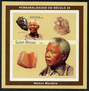 Guinea - Bissau 2001 Nelson Mandela & Minerals #3 imperf s/sheet containing 1 value (Skutterudite) unmounted mint Mi 1982