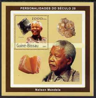 Guinea - Bissau 2001 Nelson Mandela & Minerals #4 perf s/sheet containing 1 value (Flourite) unmounted mint Mi 1983