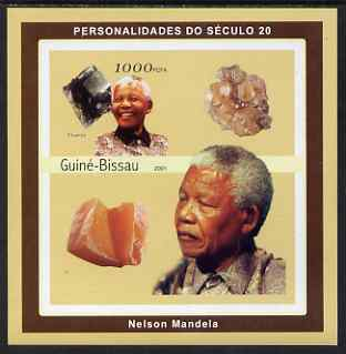 Guinea - Bissau 2001 Nelson Mandela & Minerals #4 imperf s/sheet containing 1 value (Flourite) unmounted mint Mi 1983