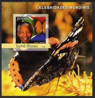 Guinea - Bissau 2003 Celebrites #2 imperf s/sheet containing 1 value (Mandela) unmounted mint