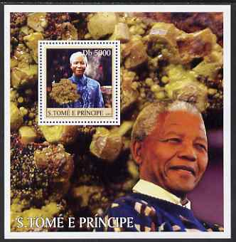 St Thomas & Prince Islands 2003 Personalities #2 perf s/sheet containing 1 value (Mandela) unmounted mint