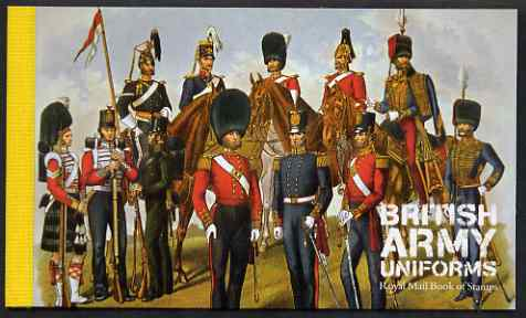 Booklet - Great Britain 2007 British Army Uniforms \A37.66 Prestige booklet complete and very fine, SG DX40