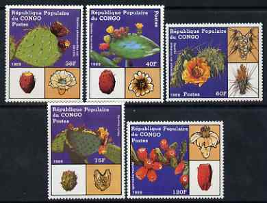 Congo 1989 Cacti perf set of 5 unmounted mint, SG 1152-57