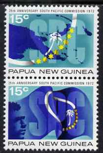 Papua New Guinea 1972 25th Anniversary of South Pacific Commission perf set of 2 unmounted mint SG 214-5