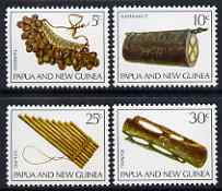Papua New Guinea 1969 Musical Instruments perf set of 4 unmounted mint, SG 165-68