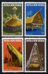 Papua New Guinea 1971 Native Dwellings perf set of 4 unmounted mint, SG 191-4