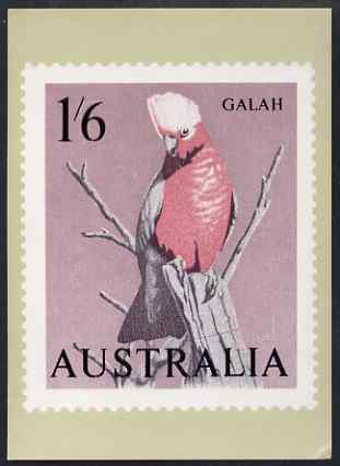 Australia 1964-65 Galah 1s6d Philatelic Postcard (Series 2 No.22) unused and very fine