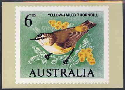 Australia 1964-65 Thornbill 6d Philatelic Postcard (Series 2 No.7) unused and very fine