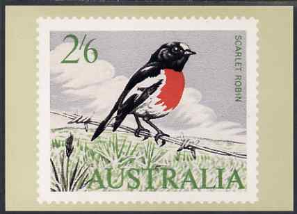Australia 1964-65 Scarlet Robin 2s6d Philatelic Postcard (Series 2 No.12) unused and very fine