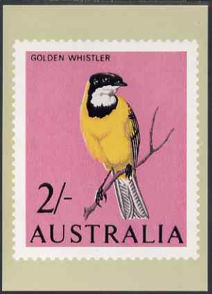 Australia 1964-65 Golden Whistler 2s Philatelic Postcard (Series 2 No.10) unused and very fine