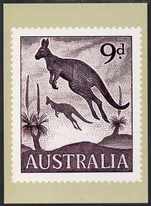 Australia 1959-64 Kangaroo 9d Philatelic Postcard (Series 4 No.21) unused and very fine