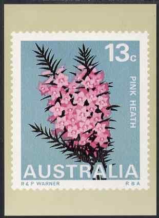Australia 1968-71 Pink Heath 13c Philatelic Postcard (Series 3 No.14) unused and very fine