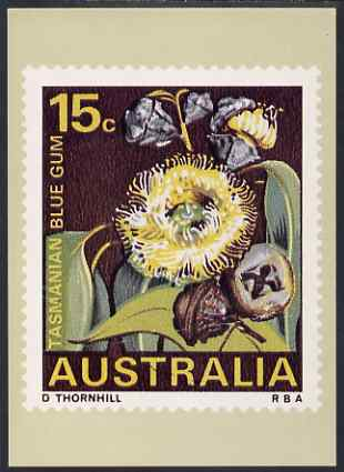 Australia 1968-71 Tasmanian Blue Gum 15c Philatelic Postcard (Series 3 No.15) unused and very fine