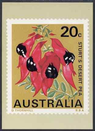 Australia 1968-71 Sturt's Desert Pea 20c Philatelic Postcard (Series 3 No.16) unused and very fine