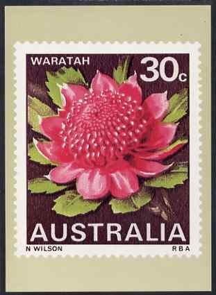 Australia 1968-71 Waratah 30c Philatelic Postcard (Series 3 No.18) unused and very fine