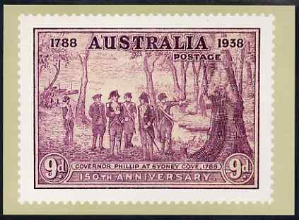 Australia 1937 New South Wales 9d (modern) Philatelic Postcard (Series 5 No.28) unused and very fine