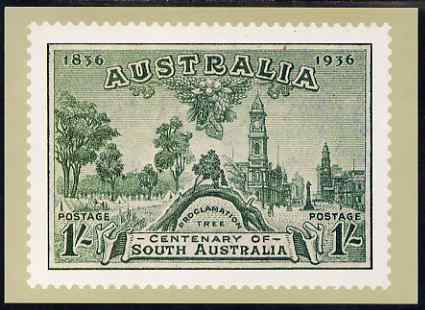 Australia 1934 Centenary of South Australia 1s (modern) Philatelic Postcard (Series 5 No.26) unused and very fine