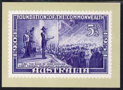 Australia 1951 50th Anniversary 5.5d (modern) Philatelic Postcard (Series 5 No.29) unused and very fine