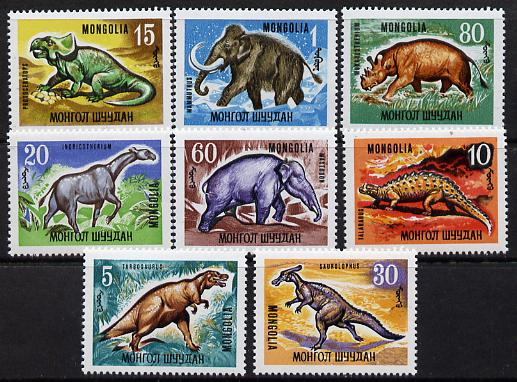 Mongolia 1967 Prehistoric Animals set of 8 unmounted mint, SG 436-43