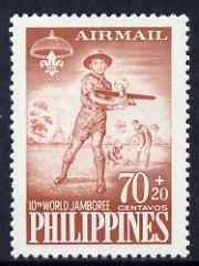 Philippines 1959 Tenth World Scout Jamboree 7c Model Airplane unmounted mint SG827