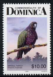 Dominica 1987 Birds $10 Imperial Amazon (Parrot) unmounted mint SG 1254