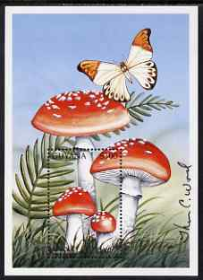 Guyana 1997 Fungi of the World perf m/sheet #2 (Amanita muscaria) signed by Thomas C Wood the designer, SG MS 5004b