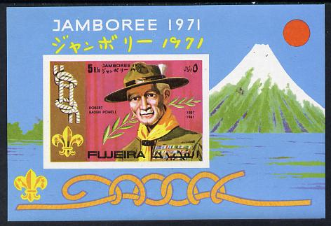 Fujeira 1971 Scouts imperf m/sheet unmounted mint (MI BL 54B)
