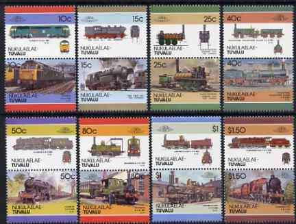 Tuvalu - Nukulaelae 1986 Locomotives #4 (Leaders of the World) set of 16 unmounted mint