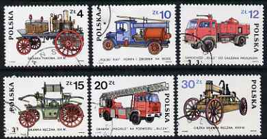 Poland 1985 Fire Engines set of 6 fine cto used, SG 2976-81