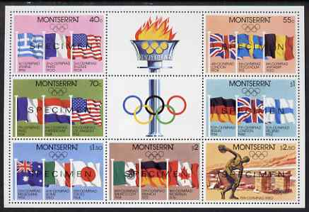 Montserrat 1980 Moscow Olympic Games perf m/sheet opt'd SPECIMEN, unmounted mint and scare thus, SG MS 475s