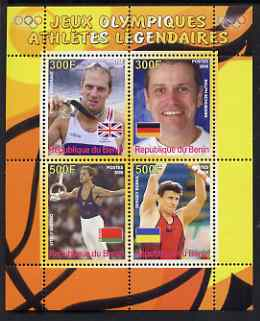 Benin 2008 Famous Olympic Athletes #2 perf sheetlet containing 4 values, unmounted mint