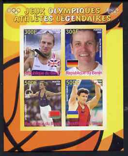 Benin 2008 Famous Olympic Athletes #2 imperf sheetlet containing 4 values, unmounted mint