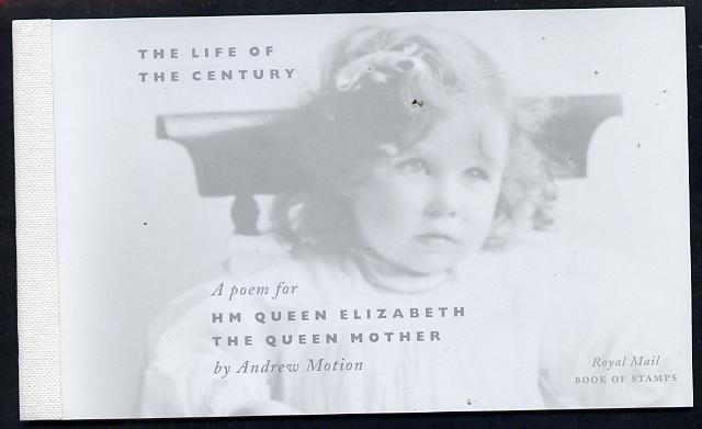 Booklet - Great Britain 2000 Queen Mother's 100th Birthday \A37.03 Prestige booklet complete & very fine SG DX25