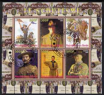 Benin 2008 Scouting perf sheetlet containing 6 values, fine cto used