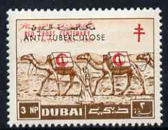 Dubai 1964 Anti-Tuberculosis Campaign overprint on Red Cross 3np Camel Train, unmounted mint, unissued (see note after SG104) blocks available