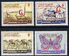 Dubai 1964 Anti-Tuberculosis Campaign overprinted on Red Cross P12 set of 4 unmounted mint, SG 101-4