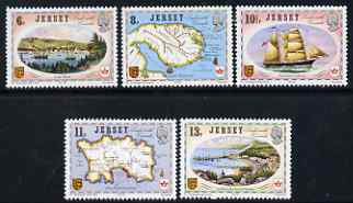 Jersey 1978 Links with Canada perf set of 5 unmounted mint, SG 190-94